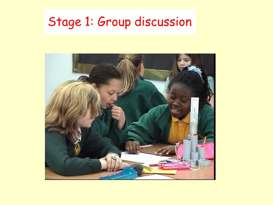 Stage 1: Group discussion