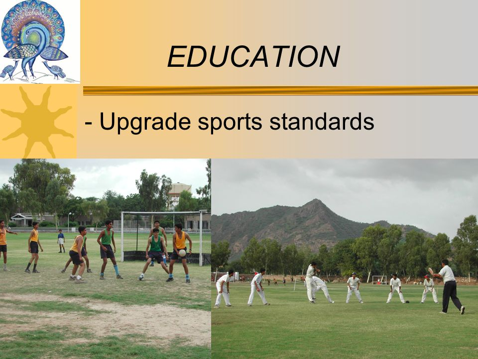 - Upgrade sports standards EDUCATION