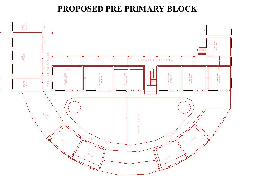 PROPOSED PRIMARY AND PRE PRIMARY BLOCK