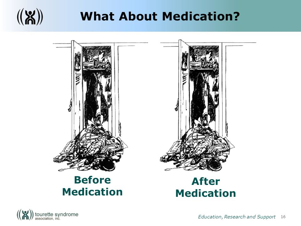 16 Education, Research and Support After Medication Before Medication What About Medication