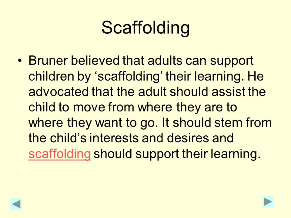 Modes of representation in practice Encourage children to be active in the nursery.
