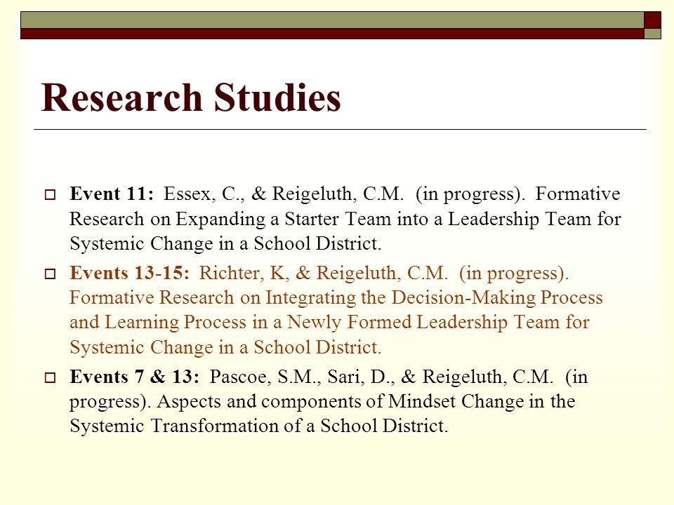 Research Studies Event 11: Essex, C., & Reigeluth, C.M.