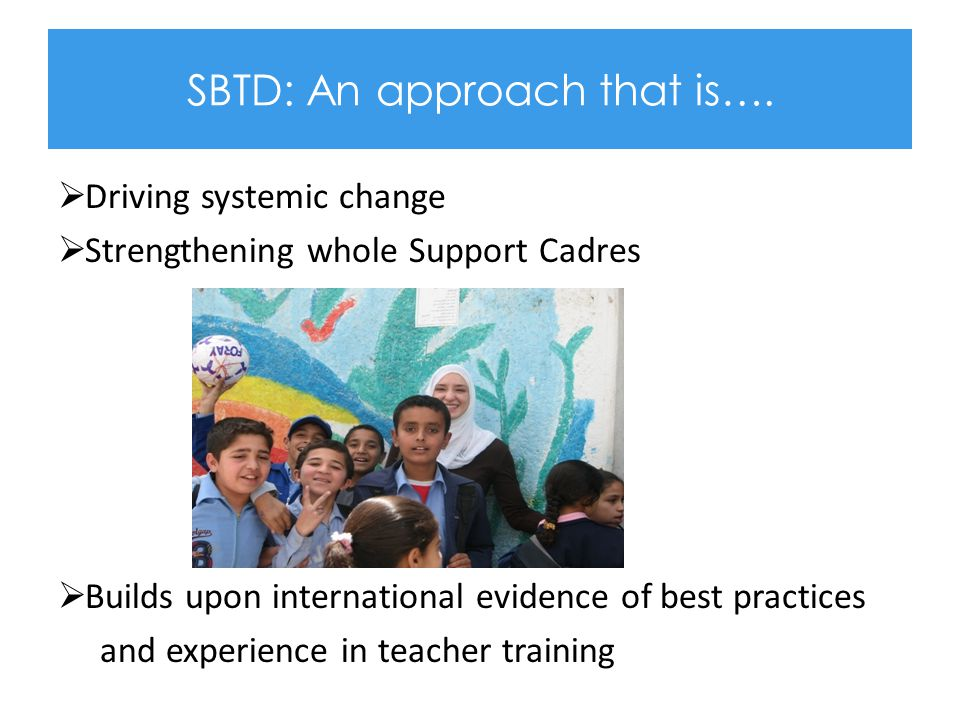 A School Based Development Programme, What does that mean.