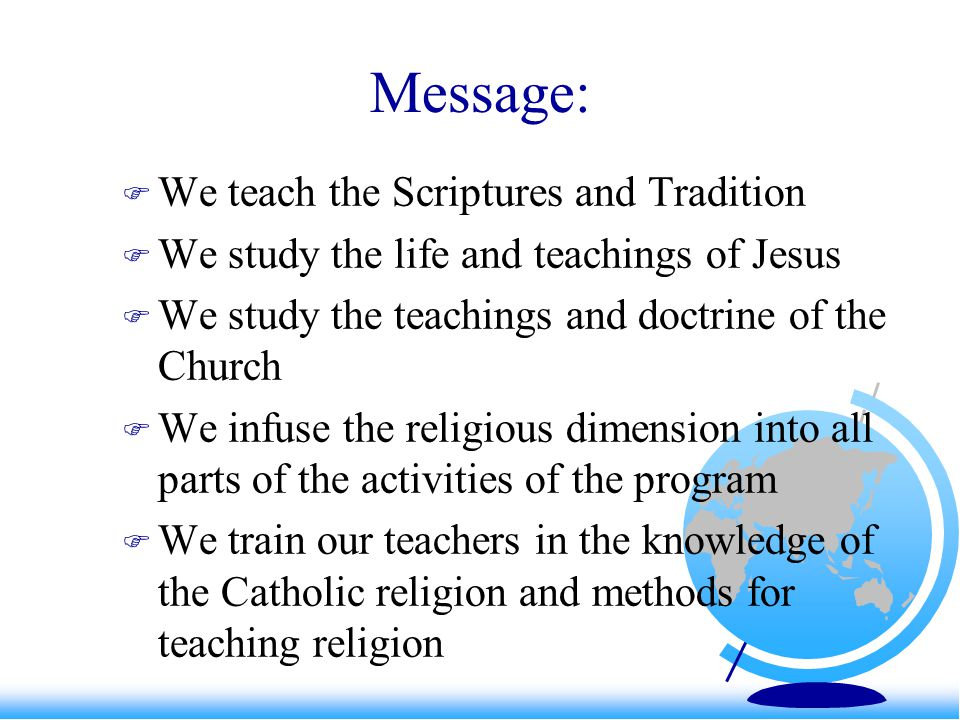 Witness/Service: a rubric The students are given instruction on the Churchs social teaching.