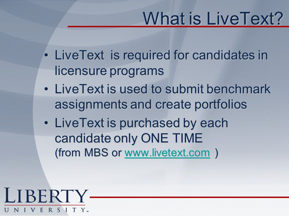 What is LiveText.