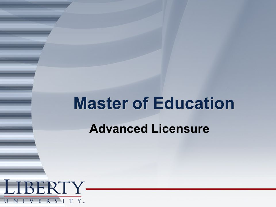 Master of Education Advanced Licensure
