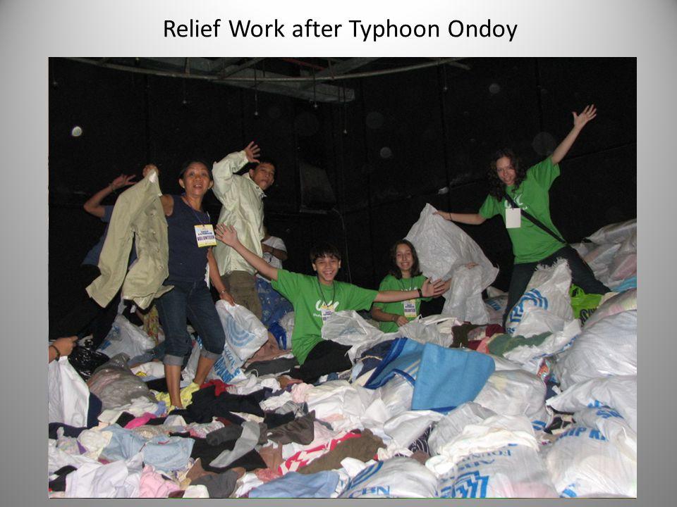 Relief Work after Typhoon Ondoy