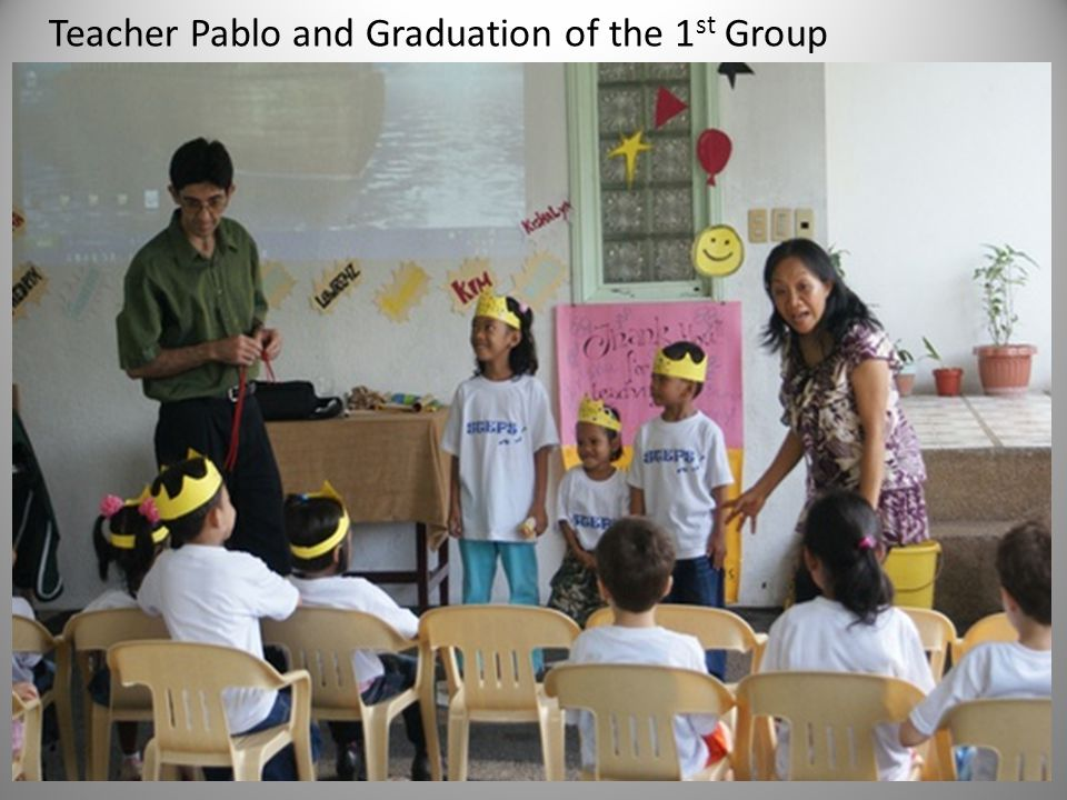 Teacher Pablo and Graduation of the 1 st Group