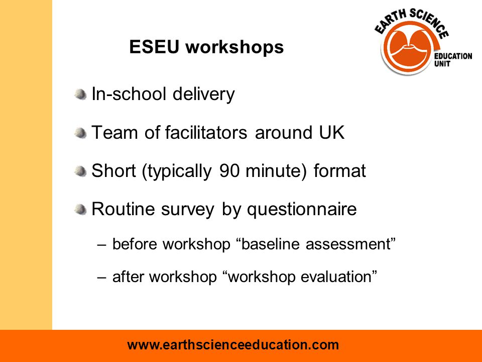 www.earthscienceeducation.com What does this mean for ESEU.