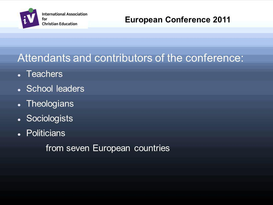 Main contents (1): European Citizenship Education on the agenda of the European institutions and the attitude of these organizations towards religion and churches (Review by Eckhart Marggraf) Which role does religion play in the education of our citizens.