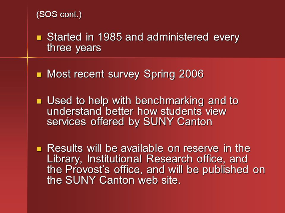 (GER 6 cont.) Method: The assessment tool for courses addressing (GER 6) will be course embedded.