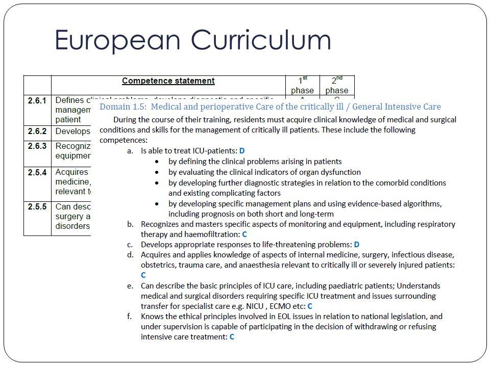 European Curriculum