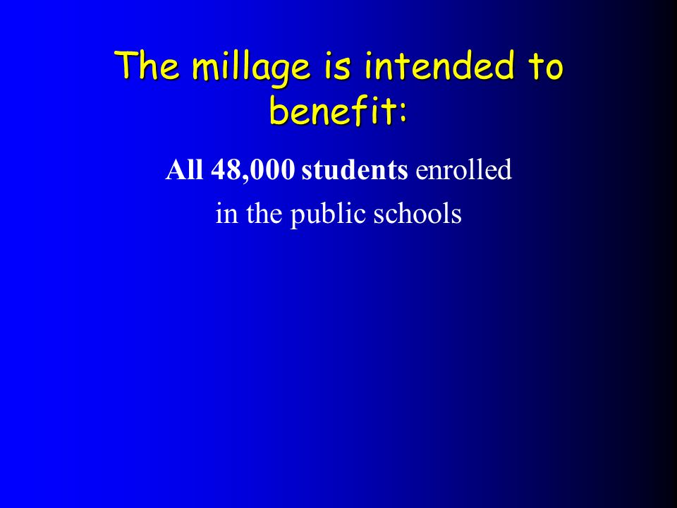 Why now.The last special education millage was passed in 1987.