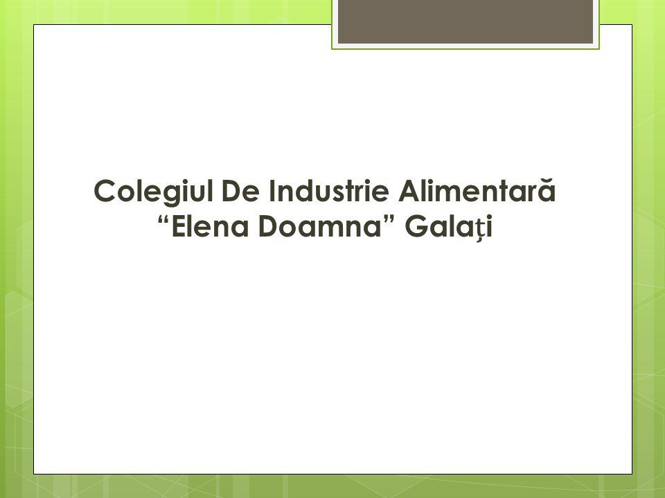 Colegiul De Industrie Alimentar ă Elena Doamna Galai