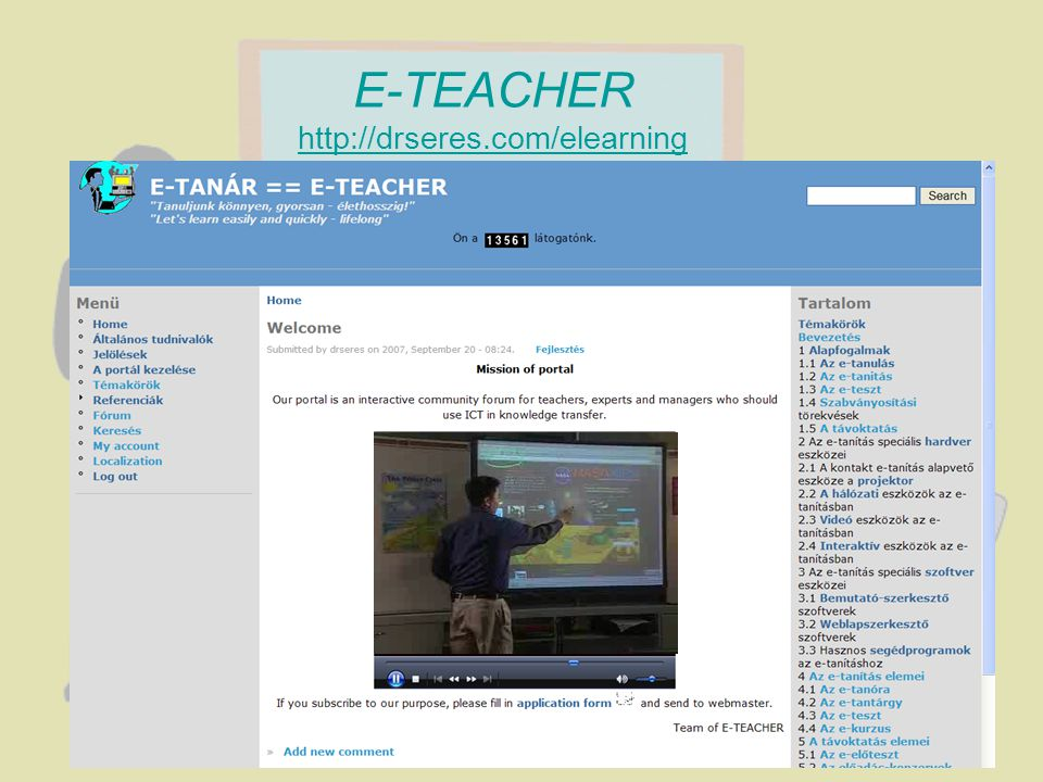 E-TEACHER http://drseres.com/elearning