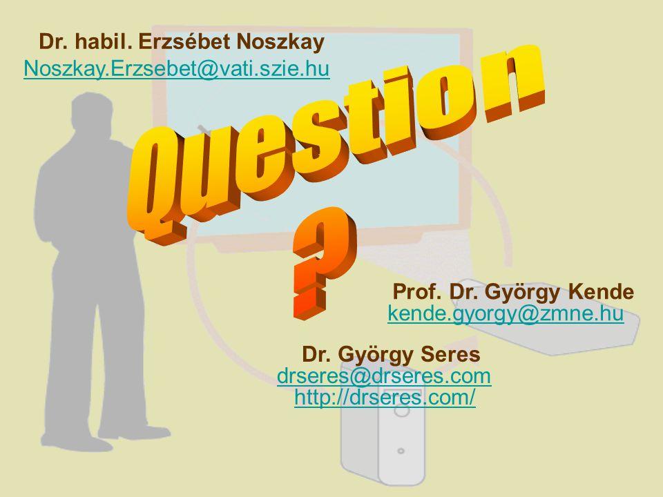 Dr. György Seres drseres@drseres.com http://drseres.com/ Dr.