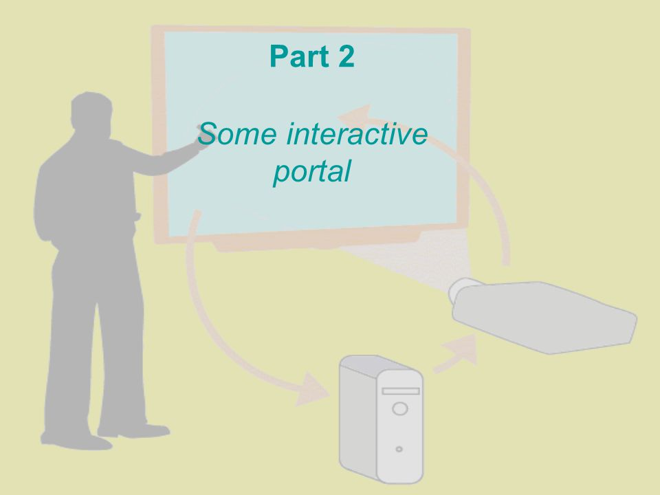 Part 2 Some interactive portal
