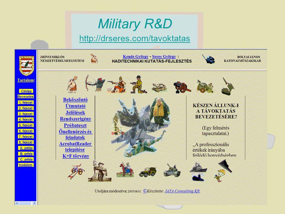 Military R&D http://drseres.com/tavoktatas