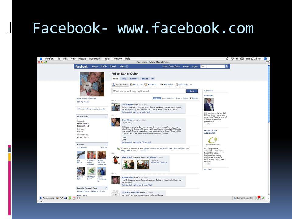 MySpace- www.myspace.com