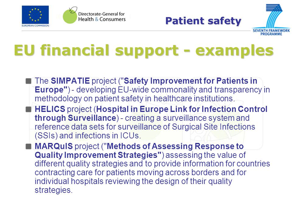 Health workforce in other EU initiatives: Directive on the recognition of professional qualifications Ongoing modernisation: Evaluation of the directive 2010-2011 (evaluation report July 2011) Public consultation on the Green Paper from June to September 2011 Public Conference on the Modernisation of the directive on 7 November Among issues discussed: minimum training requirements and CPD/CME Legislative proposal expected end 2011 Health workforce