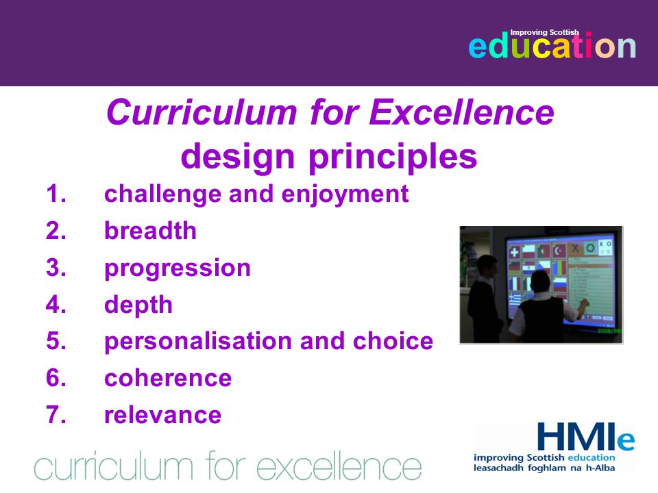 educationeducation Improving Scottish Curriculum for Excellence: curriculum areas 1.languages and literacy 2.mathematics and numeracy 3.health and wellbeing 4.expressive arts 5.religious and moral education 6.science 7.social subjects 8.technologies
