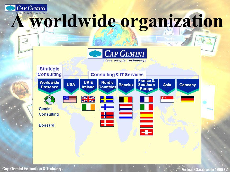 Virtual Classroom 1999 / 13 Cap Gemini Education & Training. Student