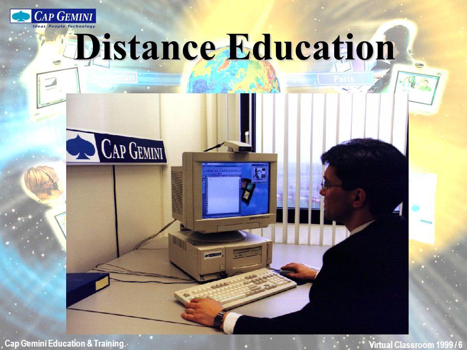Virtual Classroom 1999 / 7 Cap Gemini Education & Training.