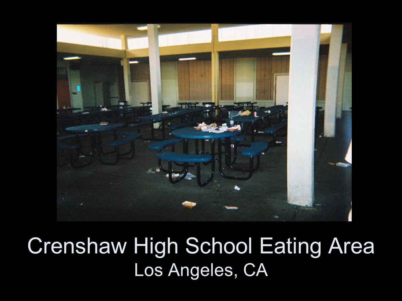 Crenshaw High School Eating Area Los Angeles, CA