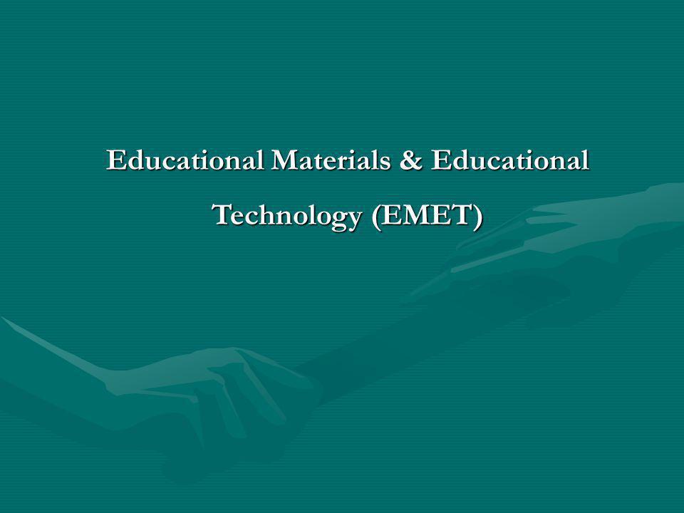 Educational Materials & Educational Technology (EMET)