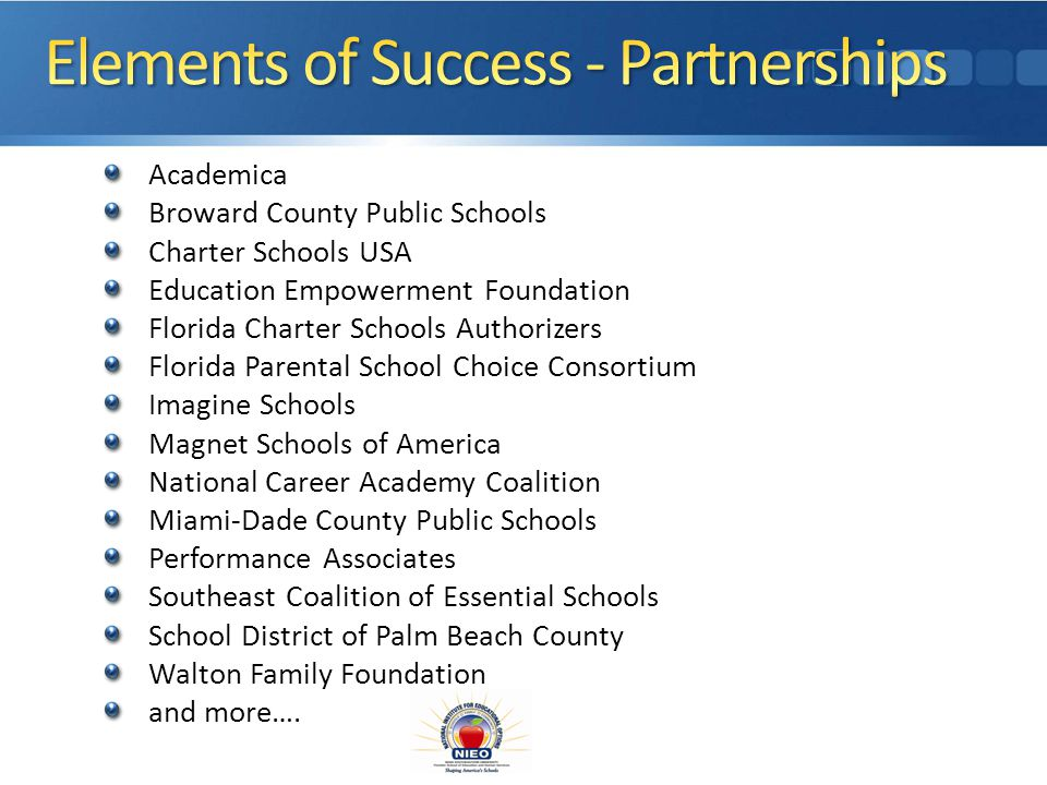 Collaborates with Communities and Business professionals to provide resources for school programs Matches your institution or organization with a compatible business or community resource Develops and implements a road map to a successful partnership