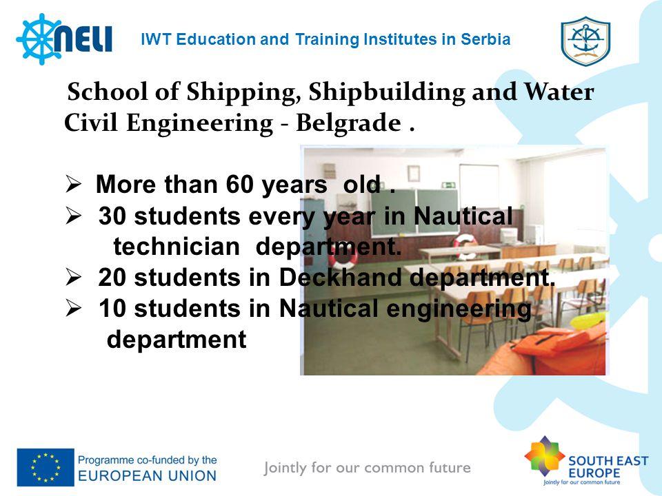 School of Shipping, Shipbuilding and Water Civil Engineering - Belgrade.