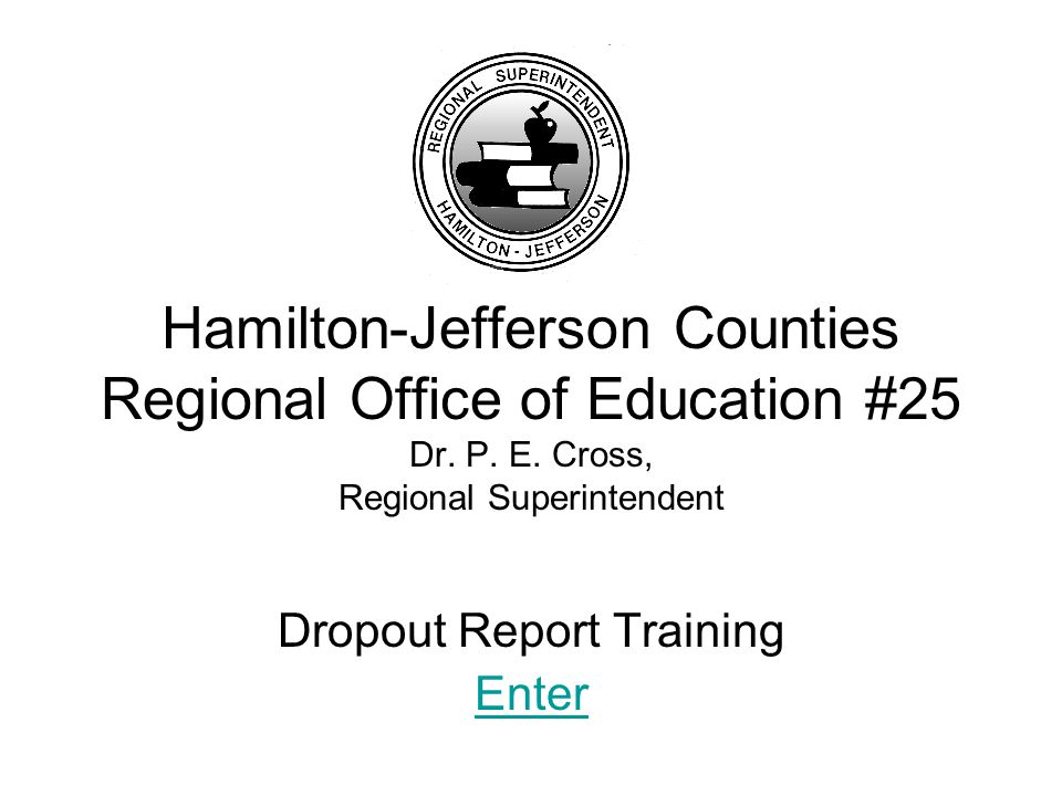 Dropout Report Training This training will take approximately 5-10 minutes.