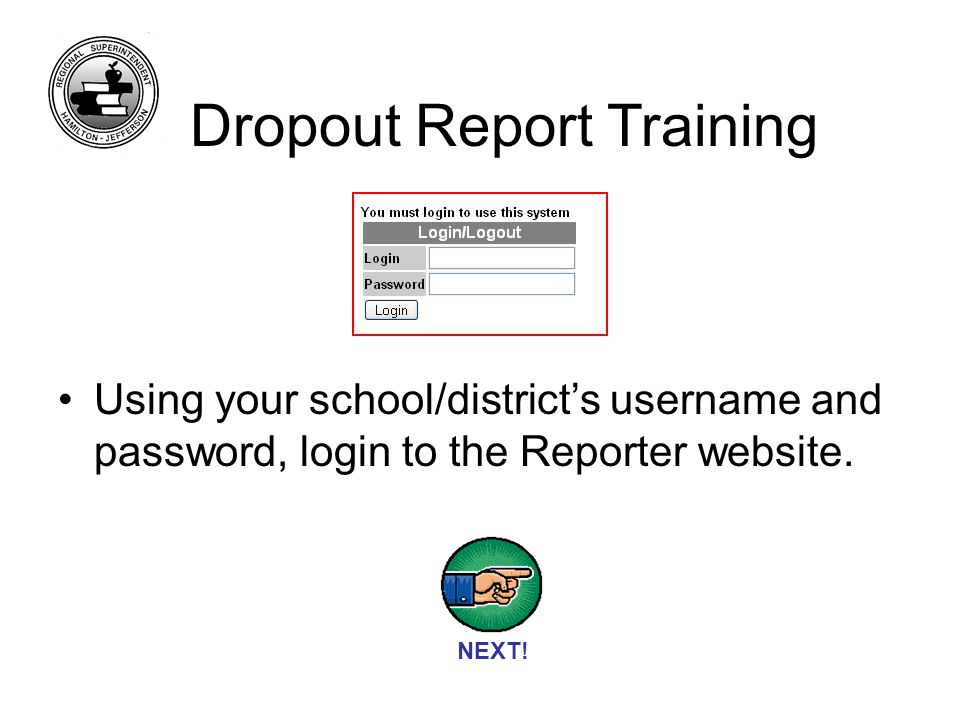 At the first screen you are prompted to select which quarter you are reporting.