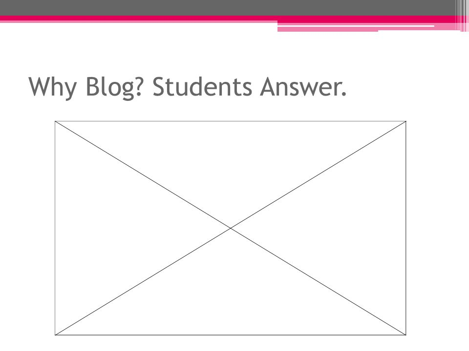 Why Blog Students Answer.