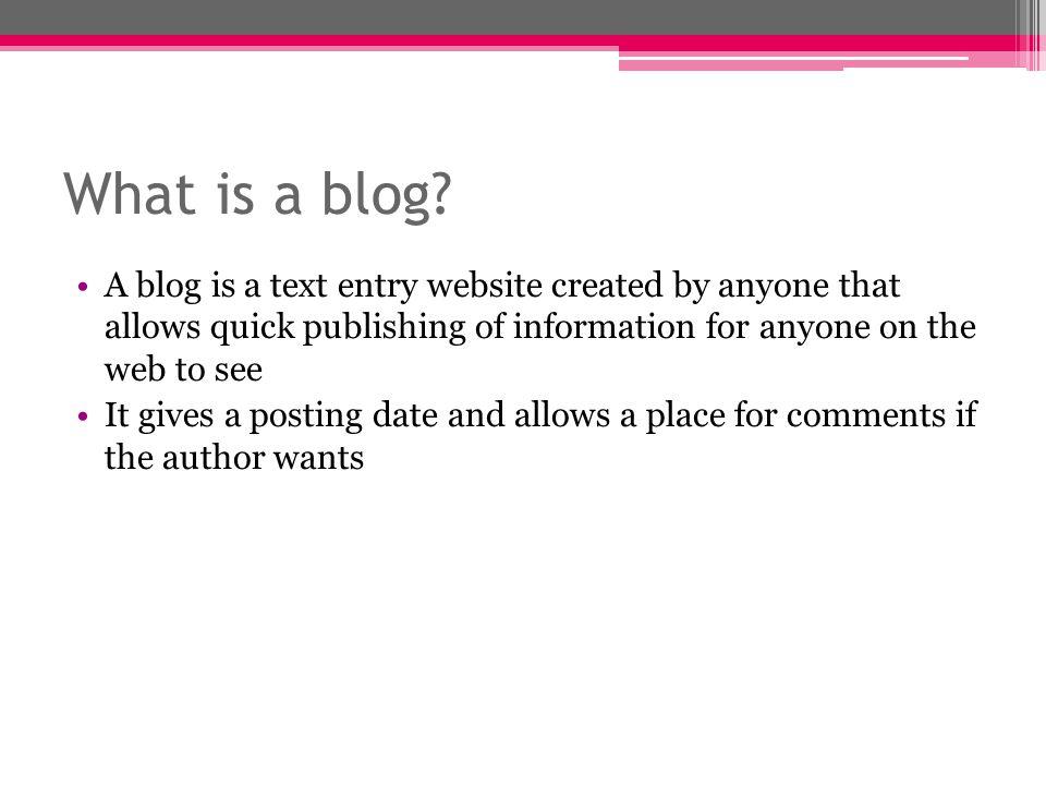 Edublogs http://edublogs.org/ Description: This website is a great tool for teachers and students alike.