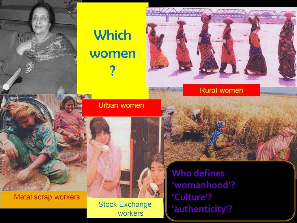 Women 2 Which women .