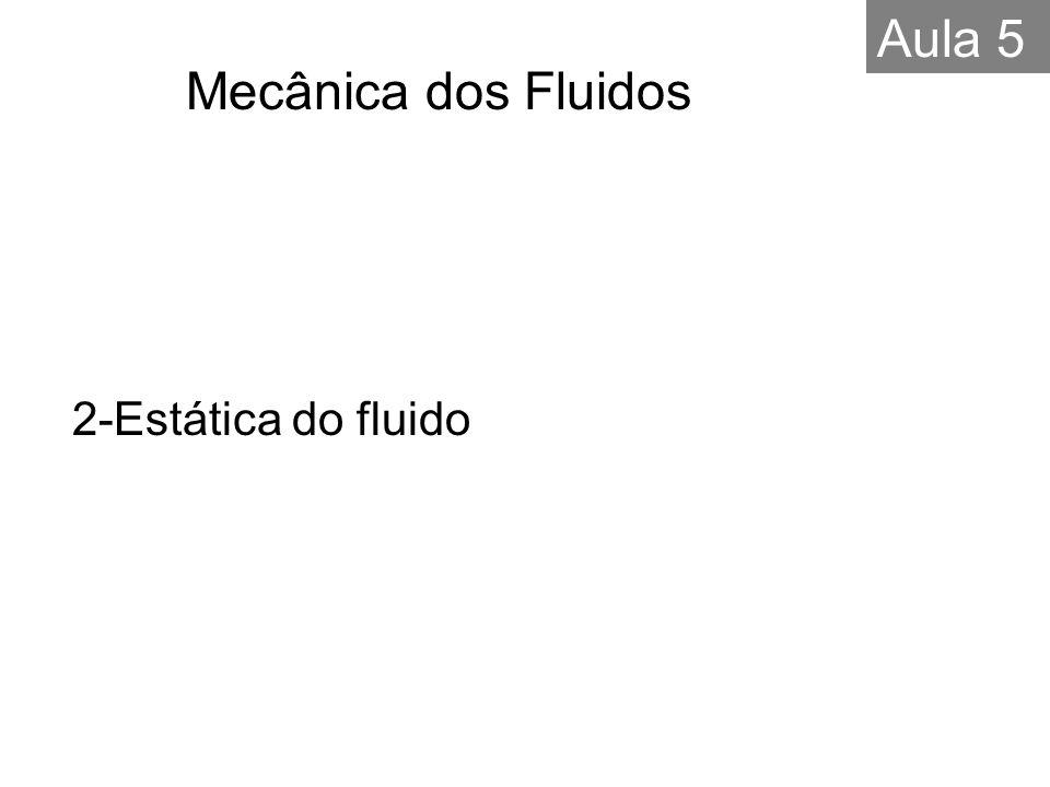 2-Estática do fluido Mecânica dos Fluidos Aula 5