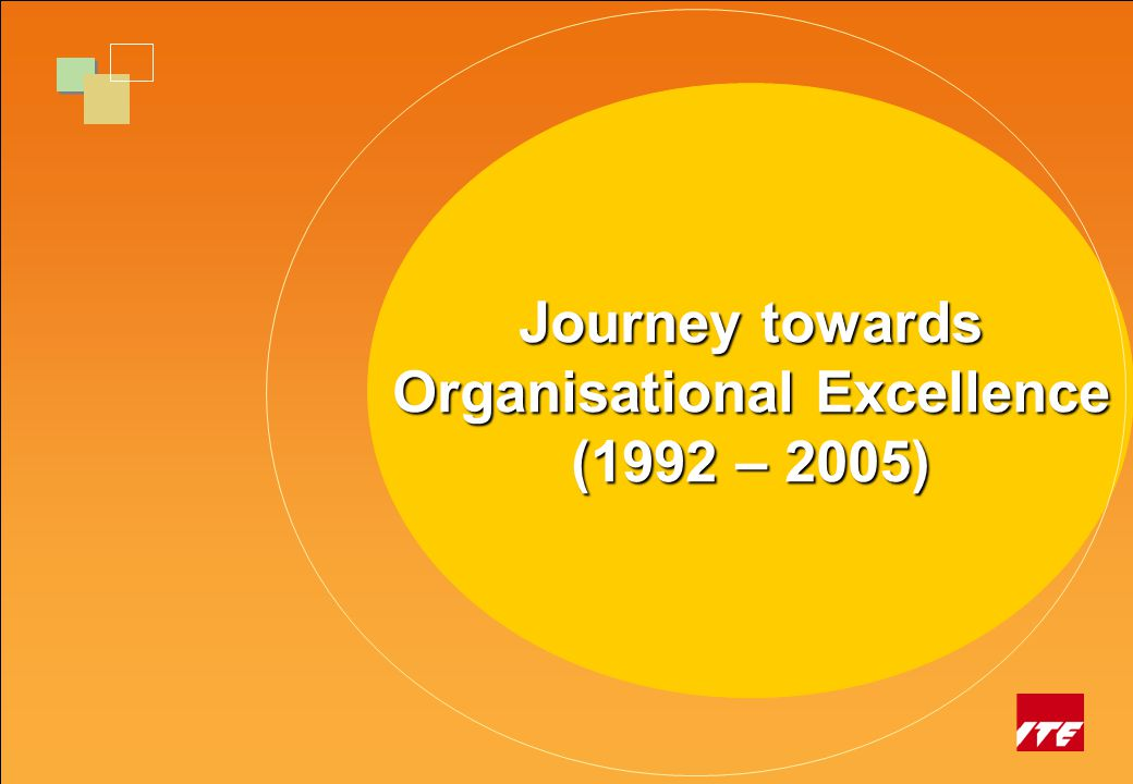 Journey of Transformation in VTE Journey towards Organisational Excellence (1992 – 2005)