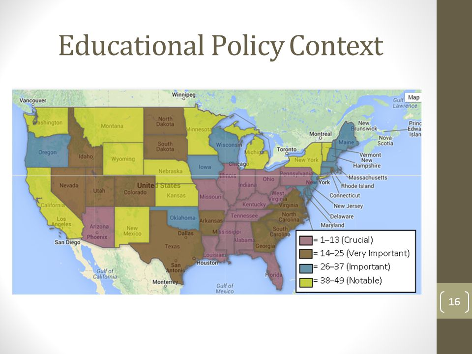 Educational Policy Context 16