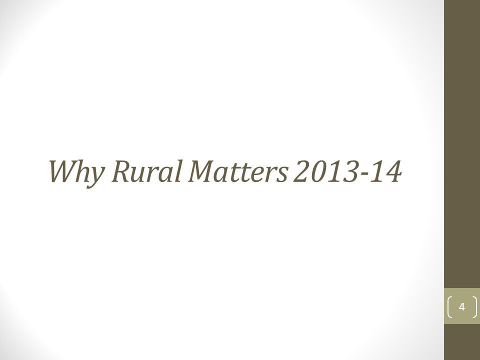 Why Rural Matters 2013-14 4
