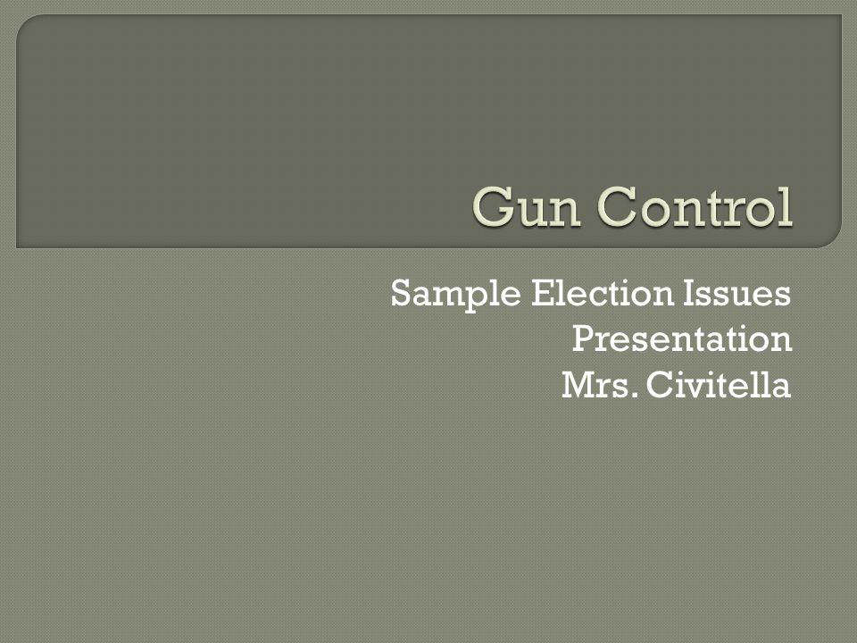 Sample Election Issues Presentation Mrs. Civitella