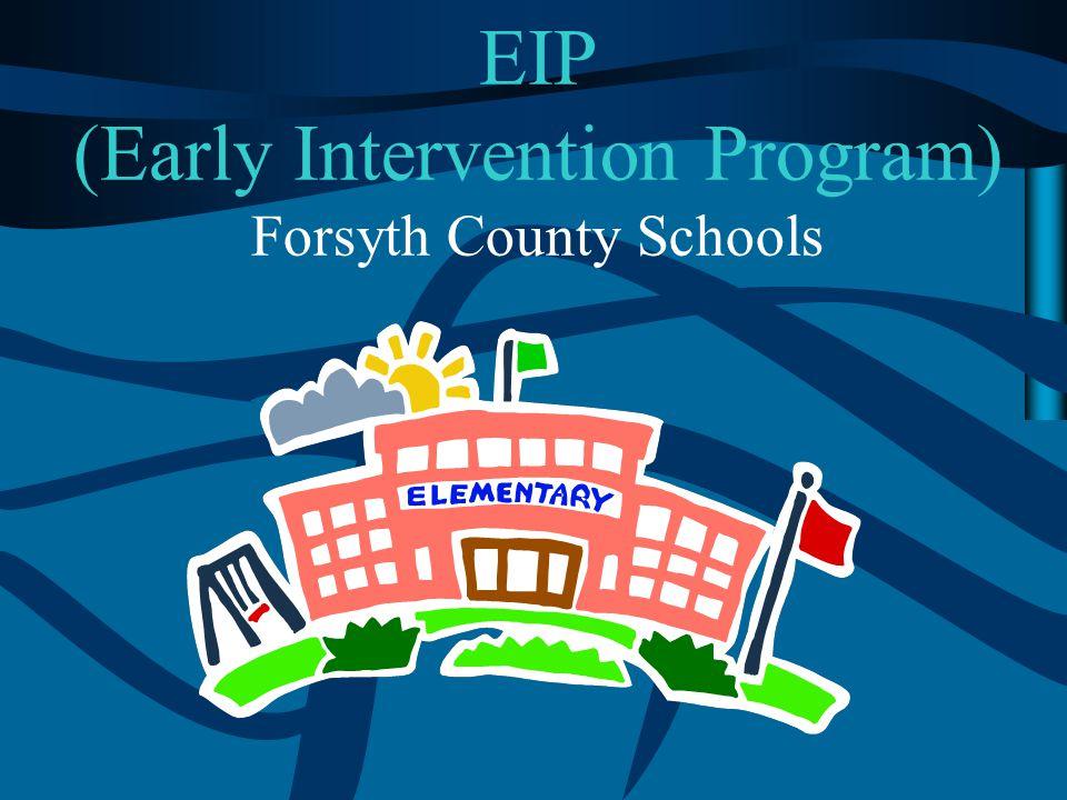 EIP (Early Intervention Program) Forsyth County Schools