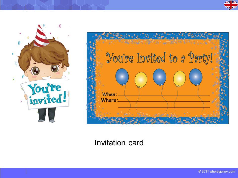 © 2011 wheresjenny.com Invitation card