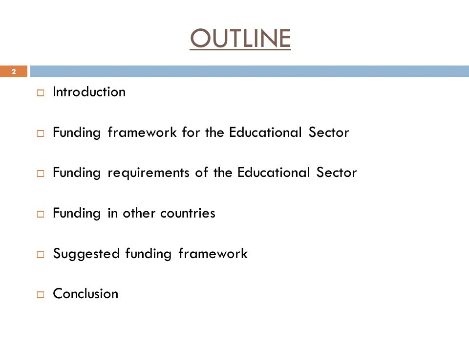 INTRODUCTION Educational Sector is facing numerous challenges which are traceable to poor funding.