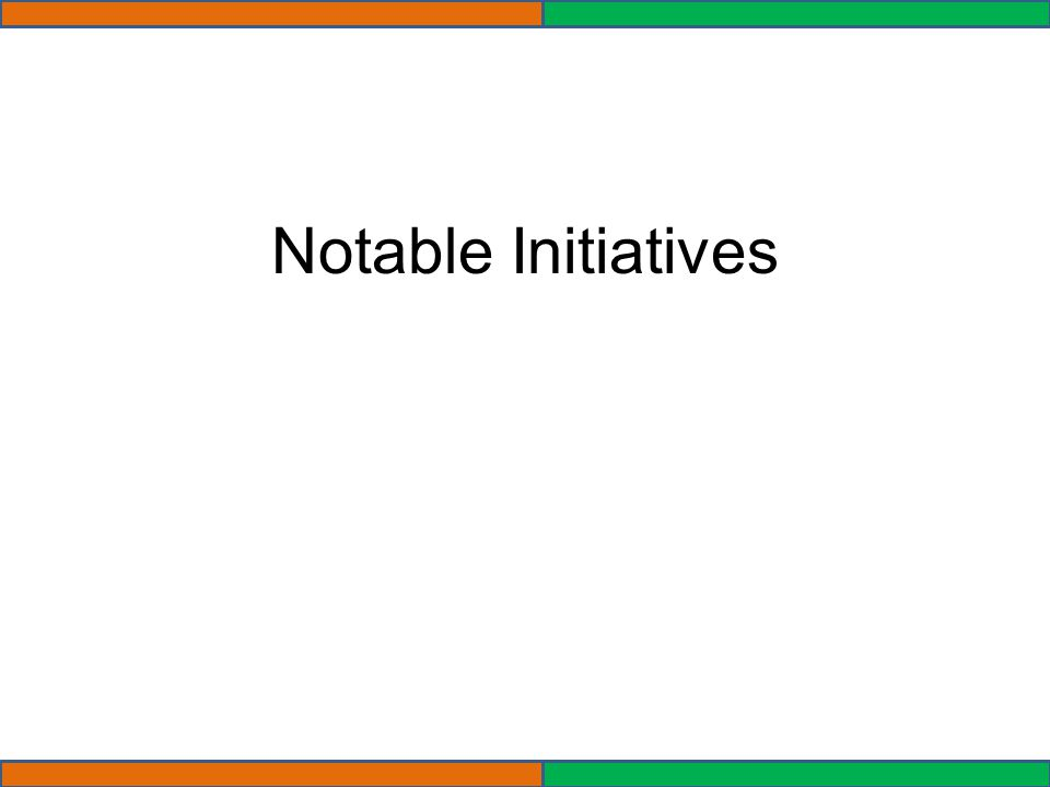 Notable Initiatives