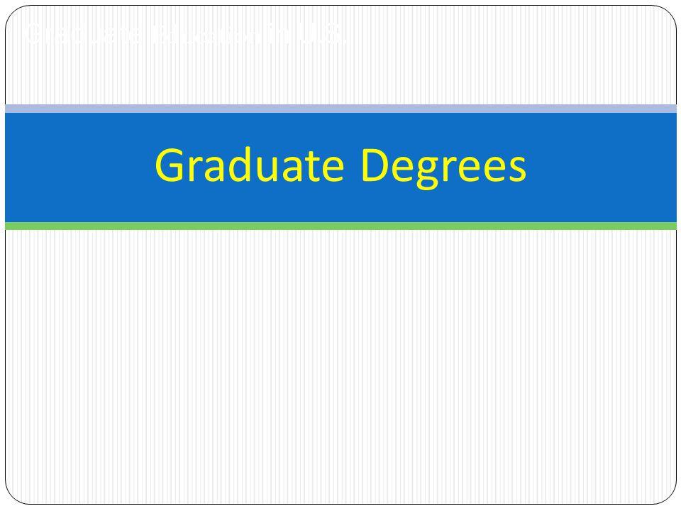 Graduate Education in U.S. Graduate Degrees