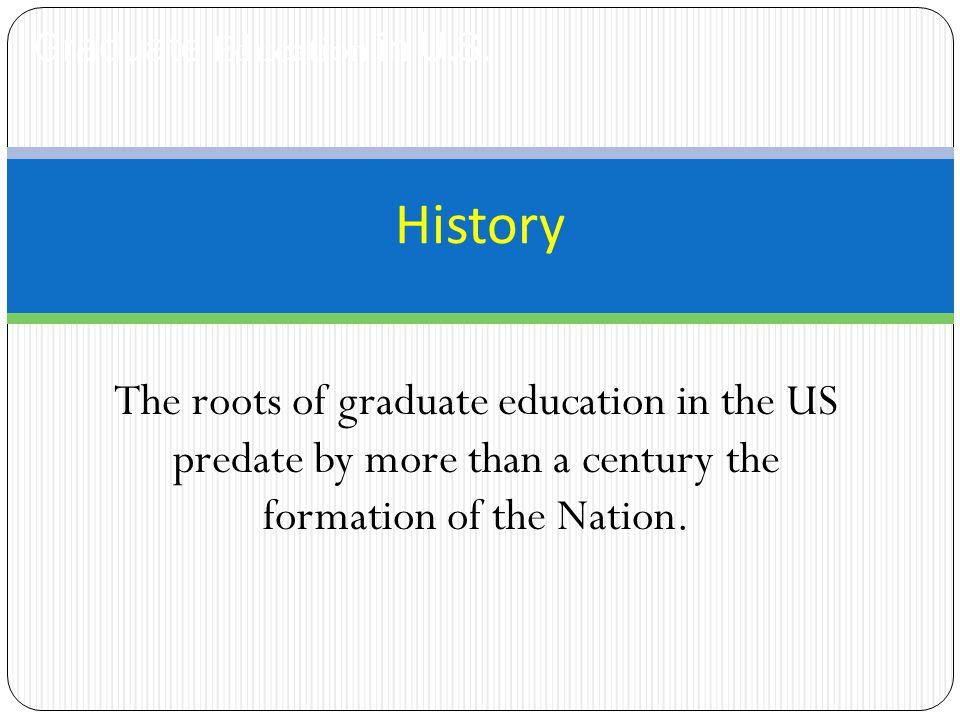Graduate Education in U.S.
