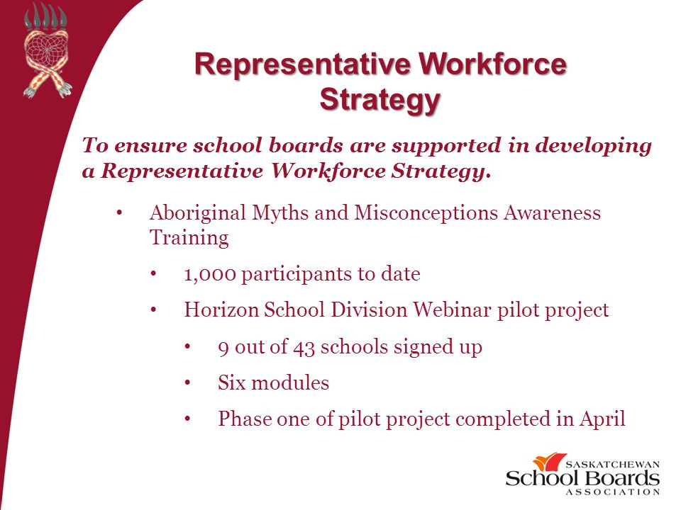 To ensure school boards are supported in developing a Representative Workforce Strategy.
