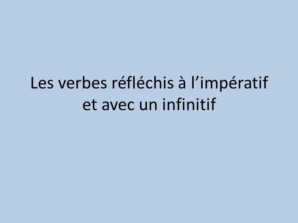 Les verbes réfléchis à limpératif et avec un infinitif