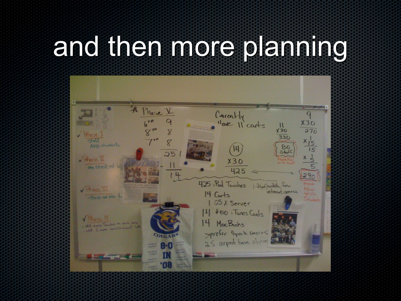 and then more planning